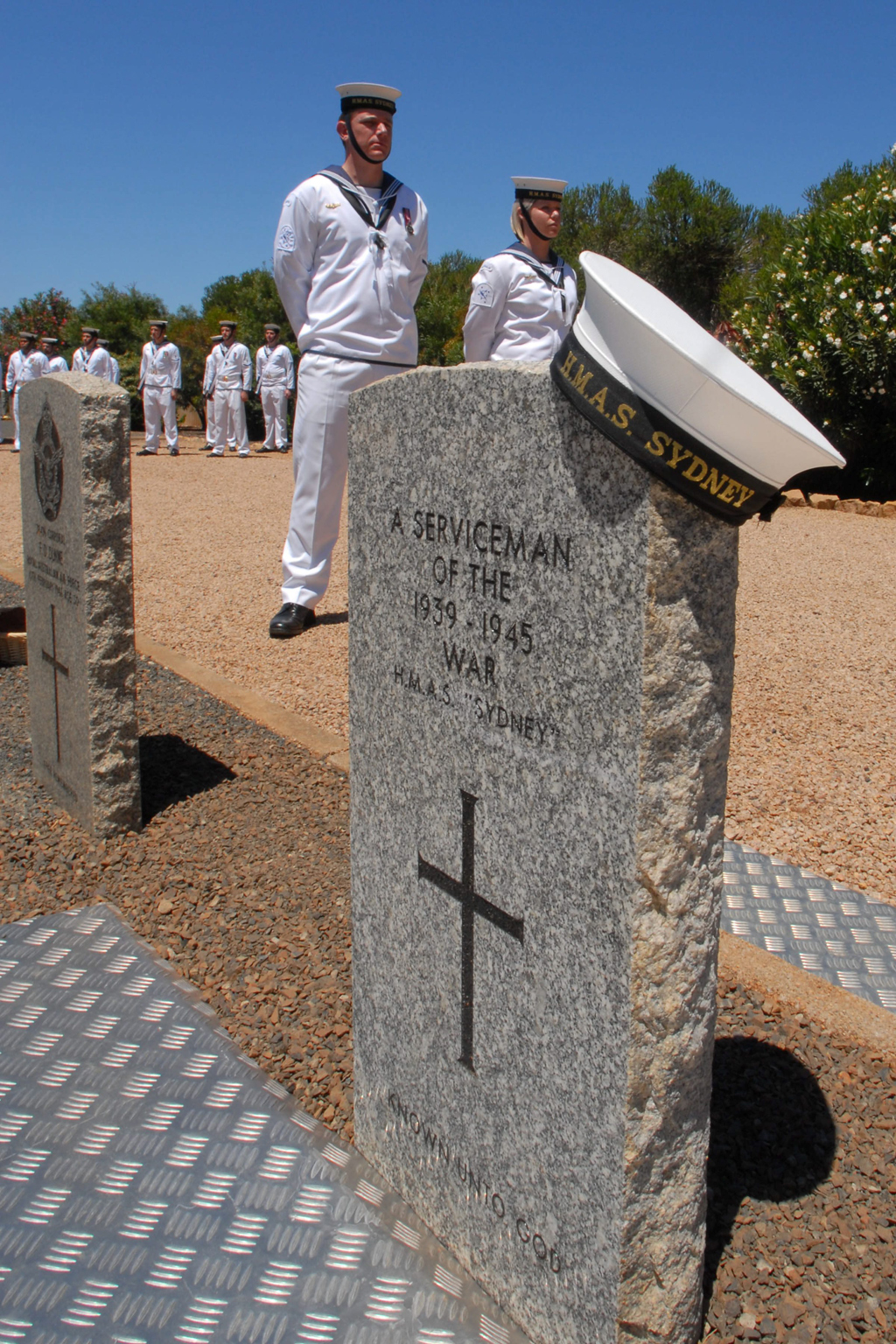 Grave of the Unknown Sailor, Geraldton War Cemetery.  Photograph: Royal Australian Navy