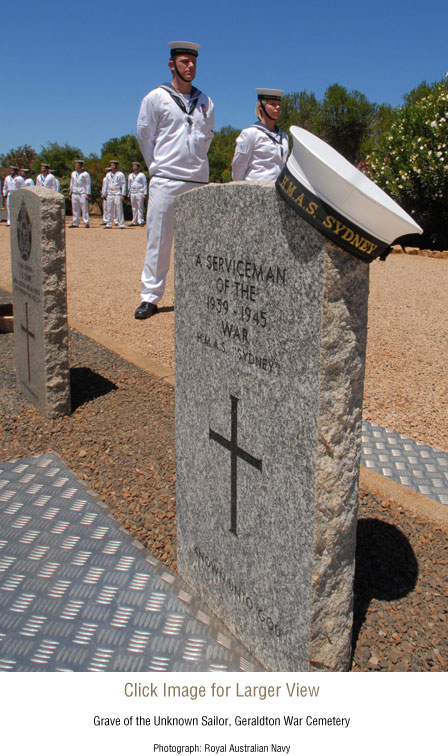 Grave of the Unknown Sailor, Geraldton War Cemetery.