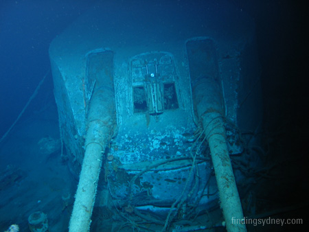 X Turret on the wreck of HMAS Sydney (II)